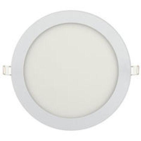 Dalle LED extra plate ronde blanc 15W (Eq. 120W) 6000K Diam 195mm