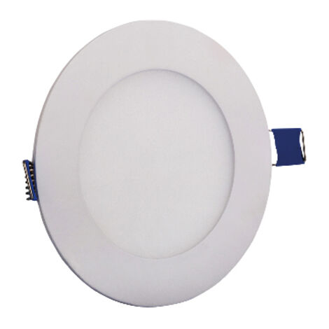 Dalle LED extra plate ronde blanc 18W 1620 Lumens 3000K Diam 220mm