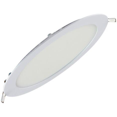 Dalle LED extra plate ronde blanc 18W (Eq. 144W) 4200K Diam 225mm