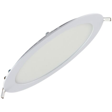 Dalle LED extra plate ronde blanc 18W (Eq. 144W) 6400K Diam 225mm