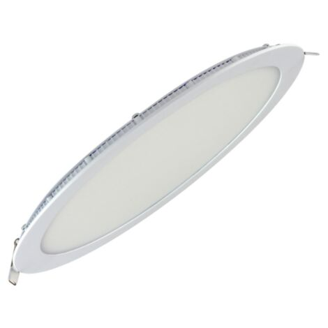 Dalle LED extra plate ronde blanc 24W (Eq. 192W) 6400K Diam 297mm