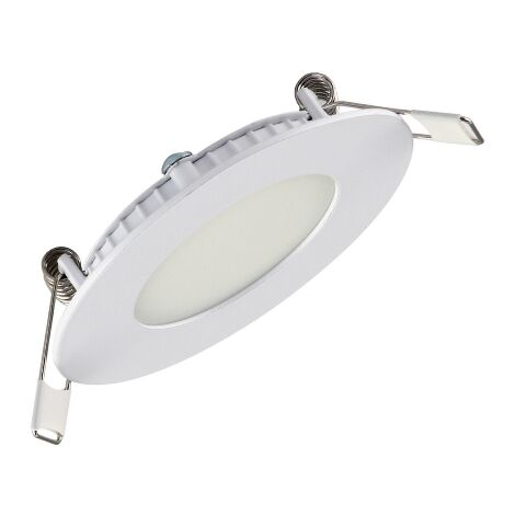 Dalle LED extra plate ronde blanc 3W (Eq. 24W) 2700K Diam 90mm