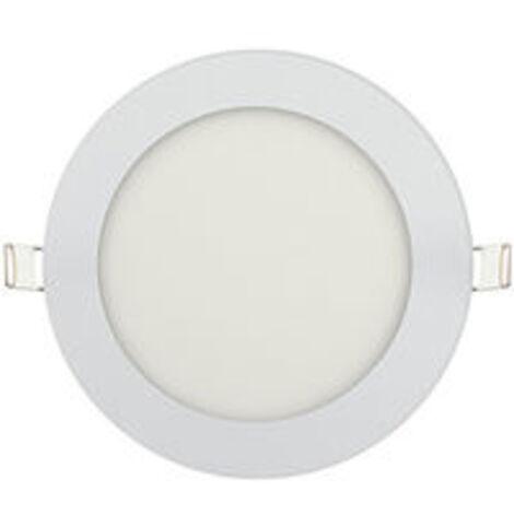 Dalle LED extra plate ronde blanc 9W (Eq. 72W) 2700K Diam 150mm