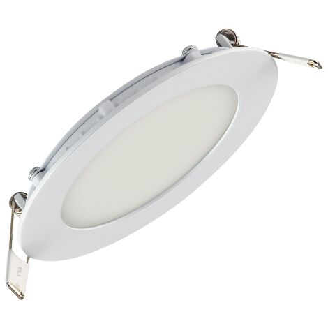 Dalle LED extra plate ronde blanc 9W (Eq. 72W) 4200K Diam 150mm