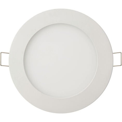 Dalle LED extra plate ronde blanc 9W (Eq. 72W) 6400K Diam 150mm