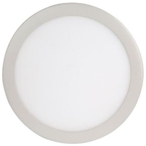 Dalle LED extra plate ronde blanc dimmable 18W (Eq. 144W) 4200K Diam 215mm