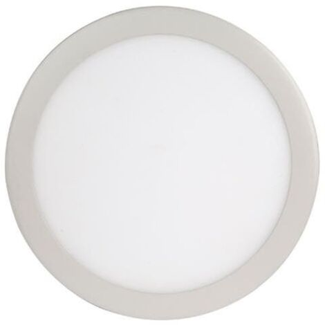 Dalle LED extra plate ronde blanc dimmable 18W (Eq. 144W) 6400K Diam 215mm
