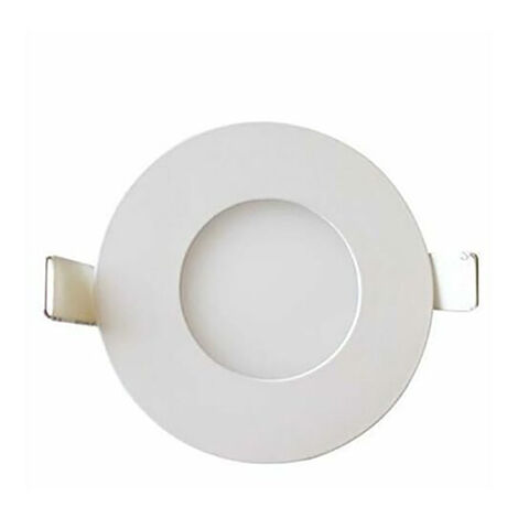 Dalle LED extra plate ronde blanc dimmable 3W 4200K