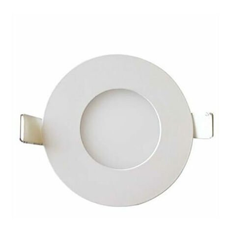 Dalle LED extra plate ronde blanc dimmable 3W (Eq. 24W) 4200K Diam 83mm