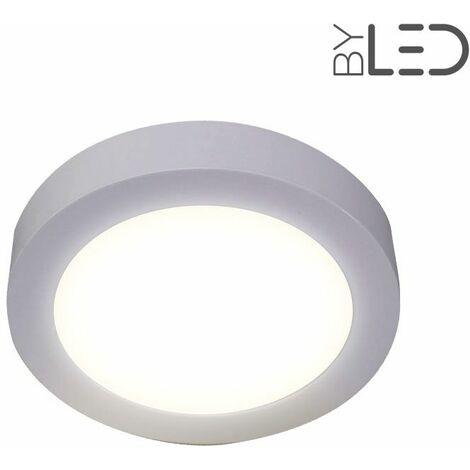Dalle LED ronde en saillie / plafonnier - 12W (bonny-12) | Variation de lumière Dimmable - Température de couleur Blanc Lumière du jour - Finition Blanc - Puissance (en Watts) 12 W