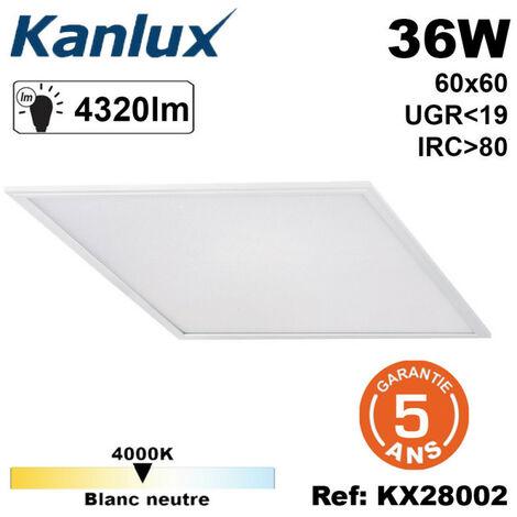 Dalle lumineuse 36W UGR inférieur à 19 garantie 5ans Kanlux 36 Watts - 4000K - 4320lumens - 30000h