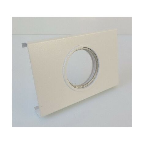 Dalle métal blanche 130x85x20mm support spot fixe pour plafond résille lampe GU10 230V ou G5.3 12V (non incl) CARLD CUBISPOT