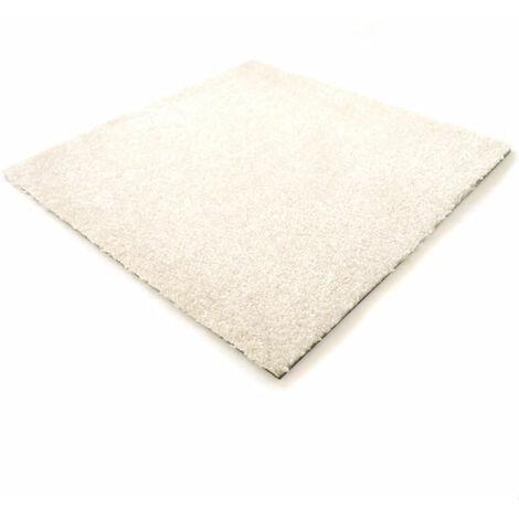 Dalle moquette velours - Blanc cassé - paquet de 3 m²