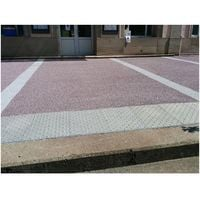 Dalle Podotactile Granité Extérieur Blanc 40 X 60 Cm
