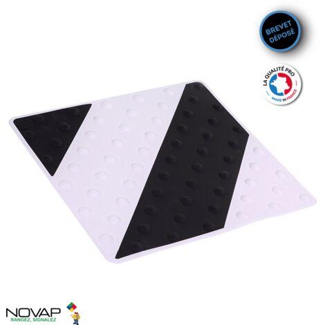 Dalle podotactile intérieure/extérieure Noir/Blanc - 6102076