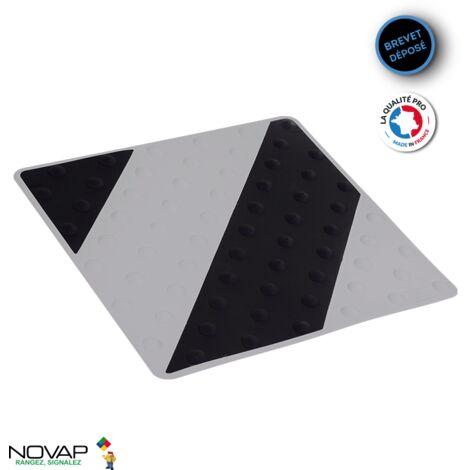 Dalle podotactile intérieure/extérieure Noir/Gris- 6102083