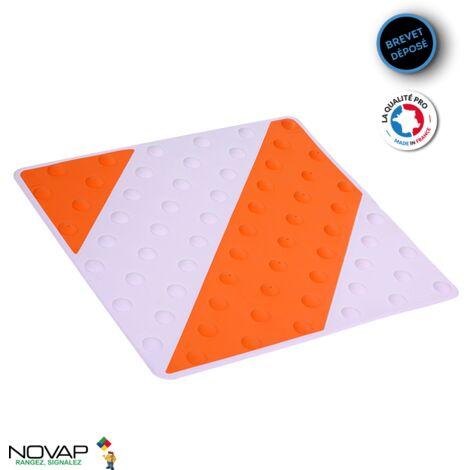 Dalle podotactile intérieure/extérieure Orange/Blanc - 6102052