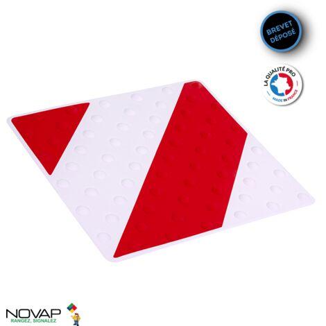 Dalle podotactile intérieure/extérieure Rouge/Blanc - 6102007