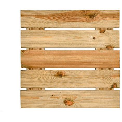 Dalle Pour Terrasse En Bois Rainurée 3 8x50x50 Motif Droit