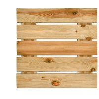 Dalle pour terrasse en bois rainurée 3,8x50x50 motif droit