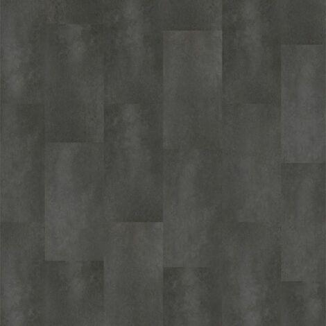 Dalle PVC � coller - boites 11 dalles de sol vinyles adh�sives - 2,04m� - imitation carrelage - Starfloor - Venezia - noir - TARKETT