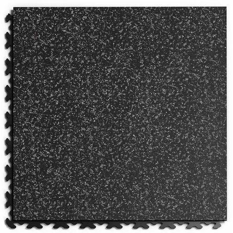 """Dalle PVC Garage Fortelock à joints invisibles Print ECO """"Noir 02"""" - 45,2 x 45,2 cm"""