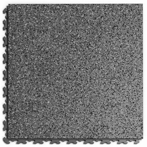 """Dalle PVC Garage Fortelock à joints invisibles Print """"Graphite 03"""" - 45,2 x 45,2 cm"""