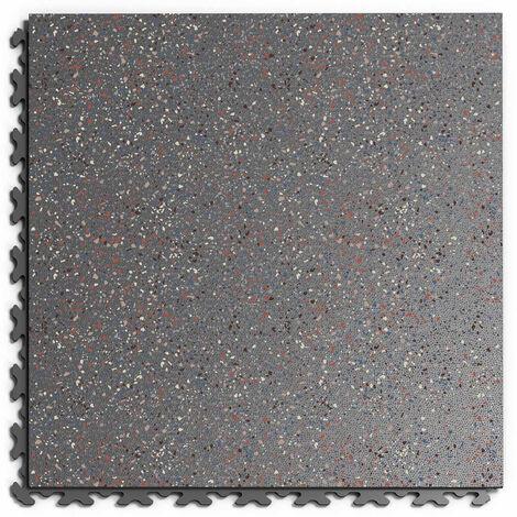 """Dalle PVC Garage Fortelock à joints invisibles Print """"Graphite 04"""" - 45,2 x 45,2 cm"""