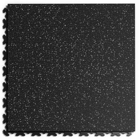 """Dalle PVC Garage Fortelock à joints invisibles Print """"Noir 01"""" - 45,2 x 45,2 cm"""