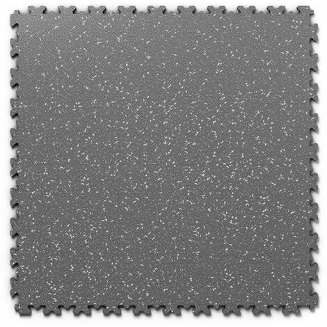 "Dalle PVC garage Fortelock Industry Print ""Skin Graphite 01"" - 50 x 50 cm (4 dalles = 1 m²)"