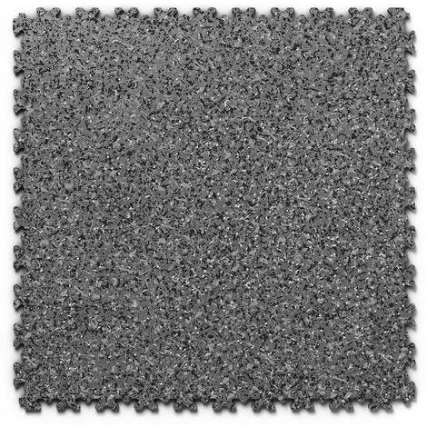 "Dalle PVC garage Fortelock Industry Print ""Skin Graphite 03"" - 50 x 50 cm (4 dalles = 1 m²)"