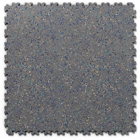 "Dalle PVC garage Fortelock Industry Print ""Skin Graphite 06"" - 50 x 50 cm (4 dalles = 1 m²)"