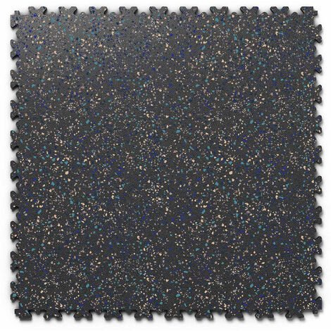 "Dalle PVC garage Fortelock Industry Print ""Skin Noir 06"" - 50 x 50 cm (4 dalles = 1 m²)"