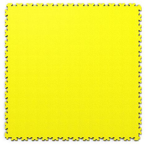 """Dalle PVC garage Fortelock XL 2230 """"Skin Jaune"""" - 65,3 x 65,3 cm"""