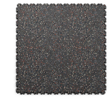 "Dalle PVC garage Fortelock XL Print 2230 ""Skin Graphite 04"" - 65,3 x 65,3 cm"