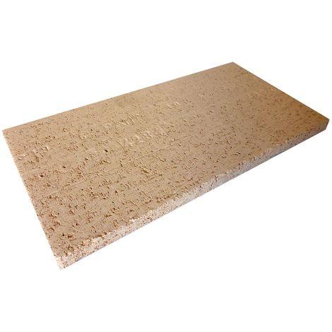 Dalle réfractaire 400 x 200 x 20 mm - 25% d'alumine
