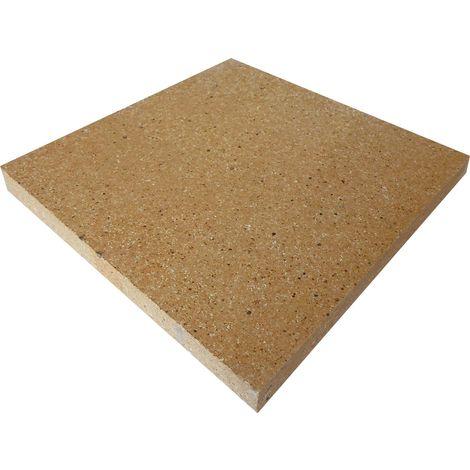 Dalle réfractaire dense 300 x 300 x 30 mm - 30 % d'alumine