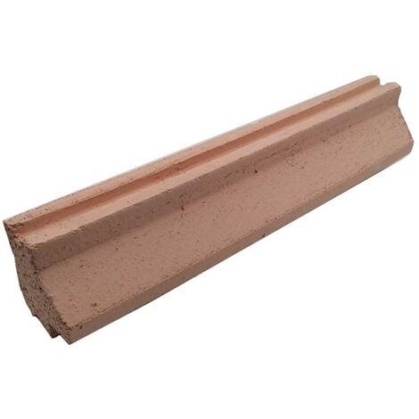 Dalle réfractaire double rainure (avec support) 600 x 124 x 60 mm