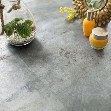 Dalle sol PVC - Click à plat - Acier Vintage (Stone 40950) - Paquet de 1,49m²