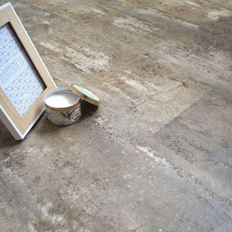 Dalle sol PVC Clipsable Mix and Match - Click 5G - Béton grège - Paquet de 1,49m²
