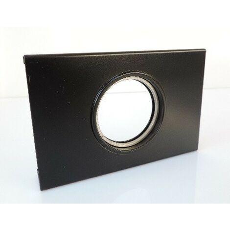 Dalle support de spot fixe métal noire 130x85x20mm pour plafond résille lampe culot GU10 230V (non incl) CARLD CUBISPOT 5150002