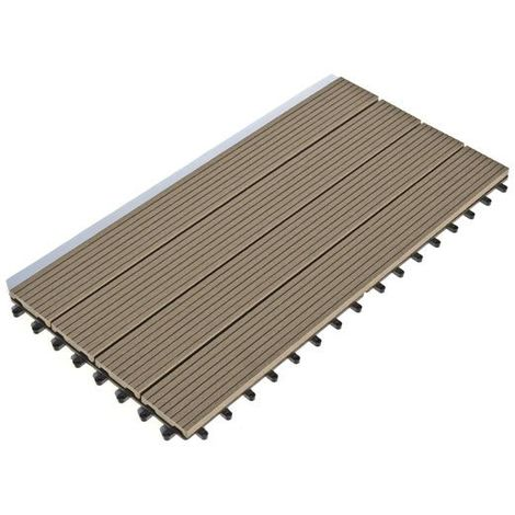 Dalle Terrasse Composite clipsable - Chocolat