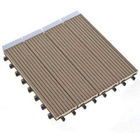 Dalle Terrasse Composite Clipsable Chocolat Lot De 55 Dalles 30 X 30 Cm 54005031