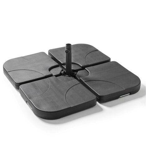 Dalles de parasol remplissable 16 kg Solys - Noir - Noir