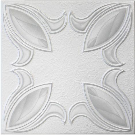 Dalles de plafond   XPS   rigide   Hexim   50x50cm   n° 57