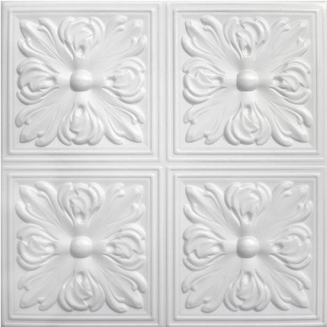 Dalles de plafond   XPS   rigide   Hexim   50x50cm   No.05