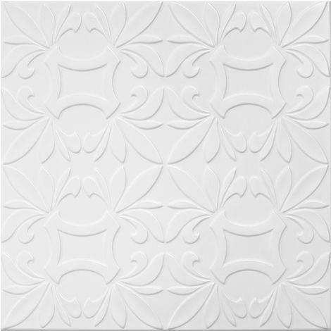 Dalles de plafond   XPS   rigide   Hexim   50x50cm   No.112