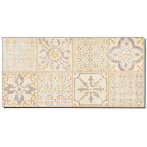 Dalles de sol PVC clipsables - boite de 9 dalles sol vinyle imitation carreau de ciment - 1,67 m² -Starfloor Click 30- Retro beige - TARKETT