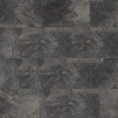 Dalles de sol PVC clipsables - boite de 9 dalles sol vinyle imitation carrelage - 1,68 m² -Starfloor Click 30- Slate anthracite - TARKETT