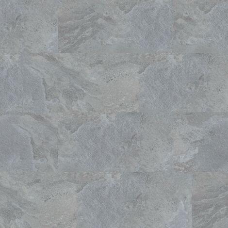 Dalles de sol PVC clipsables - boite de 9 dalles sol vinyle imitation carrelage - 1,68 m² -Starfloor Click 30- Slate gris - TARKETT